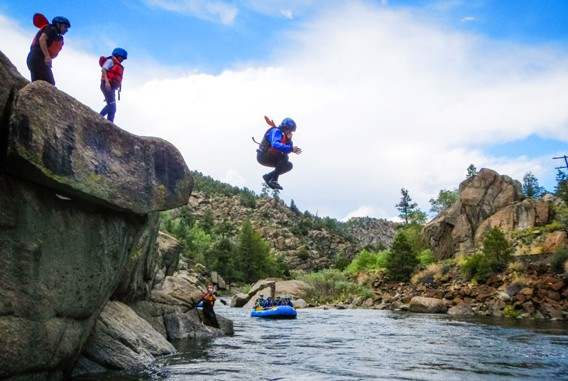 Jumping in Browns Canyon