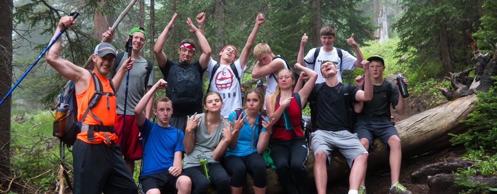 Group on Peak Hike »