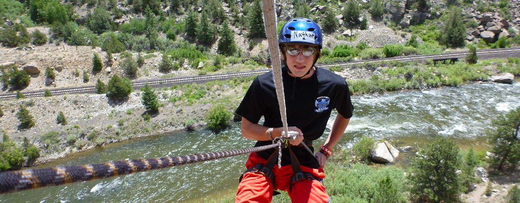 Boy Rappelling » Rock Climb & Rappel at Journey Quest