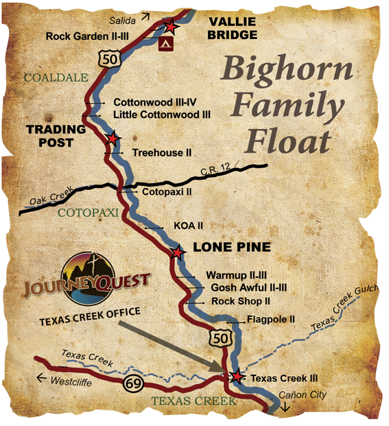Family Float Bighorn Sheep Canyon Arkansas River Map