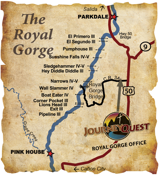River Map of the Royal Gorge